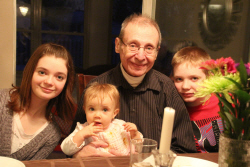 Jeff Spitzer with his grandchildren